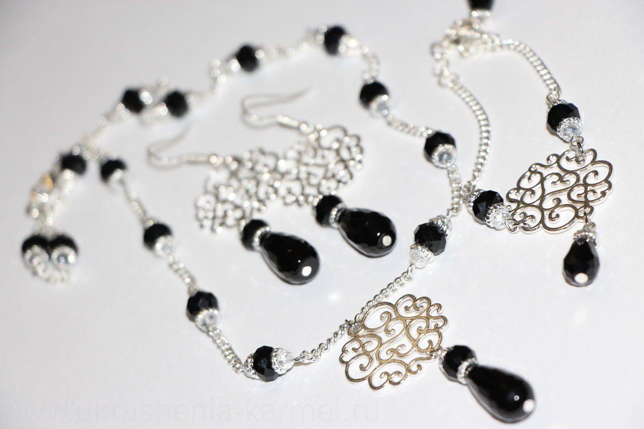 Браслет серёжки ожерелье своими руками