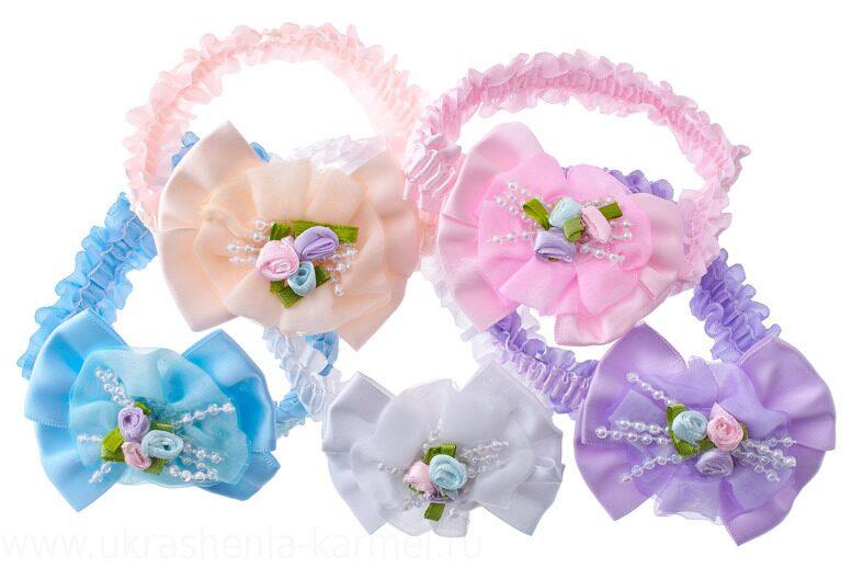 Канзаши повязки резинки заколки для маленьких девочек
